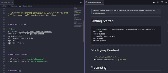 VS Code Markdown Preview